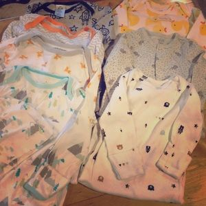 Lot of 7 - infant Boys sleep gowns .. 3 months